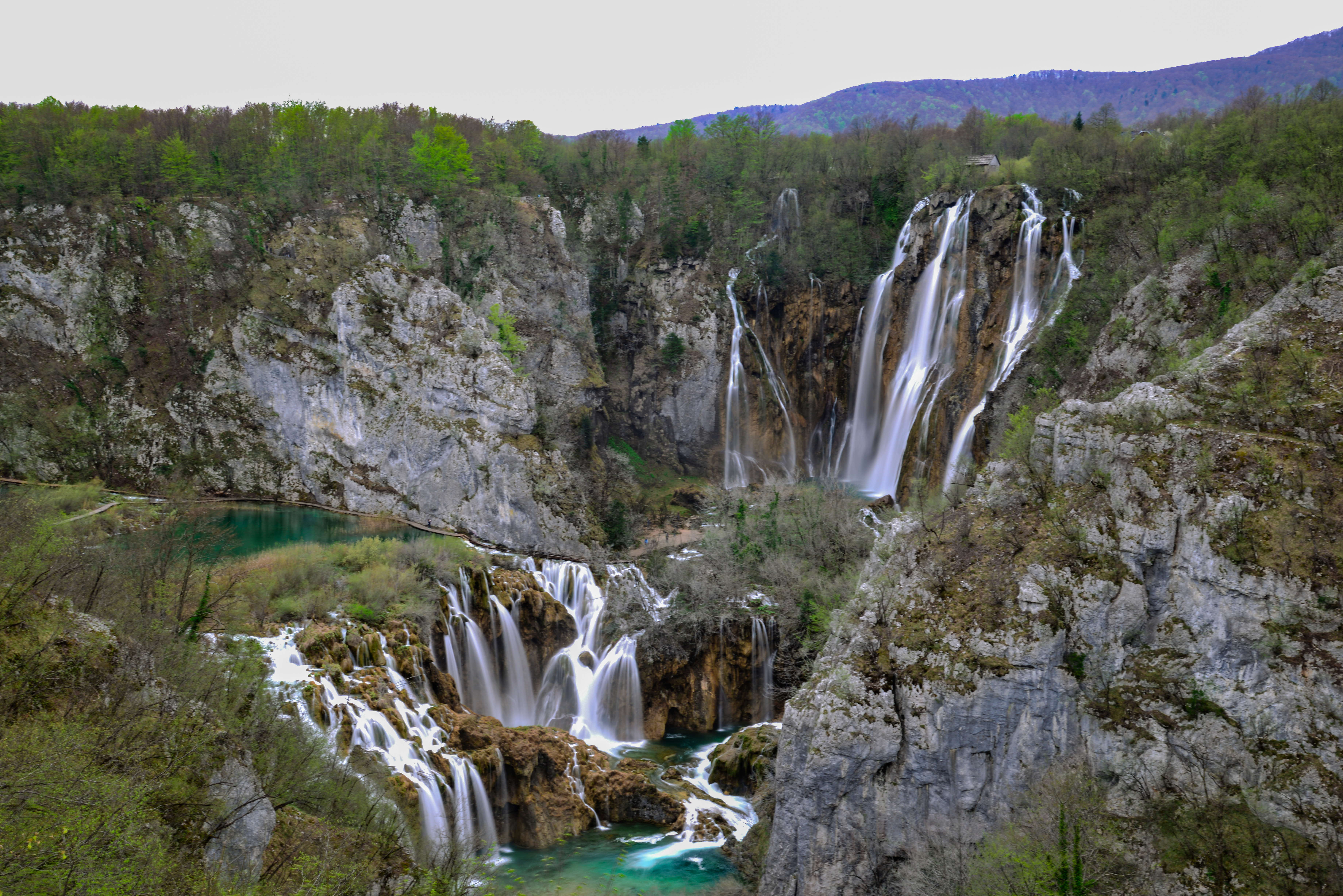 View from Plitvice entrance, Croatia