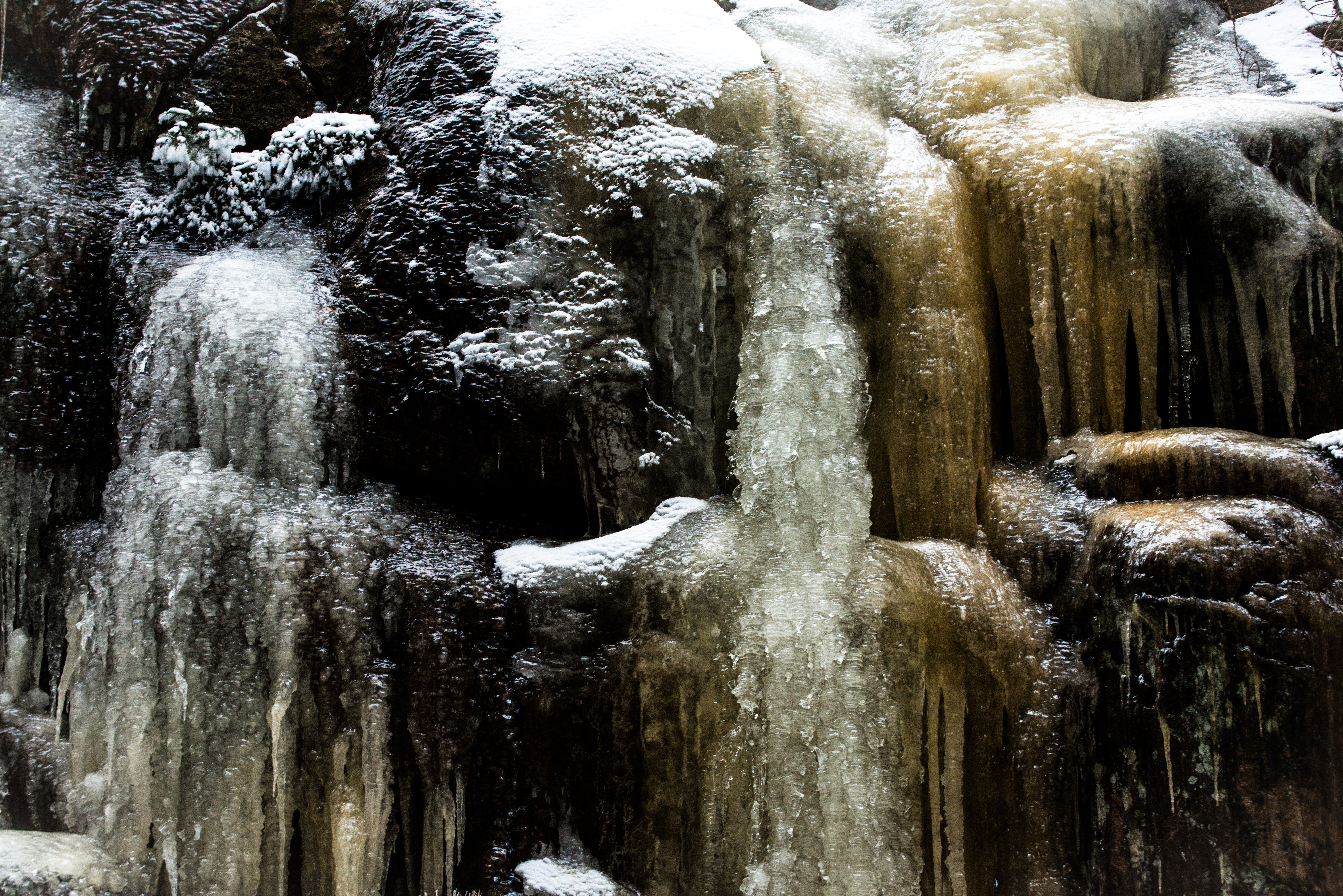 Icicle Waterfall Landscape Photograph