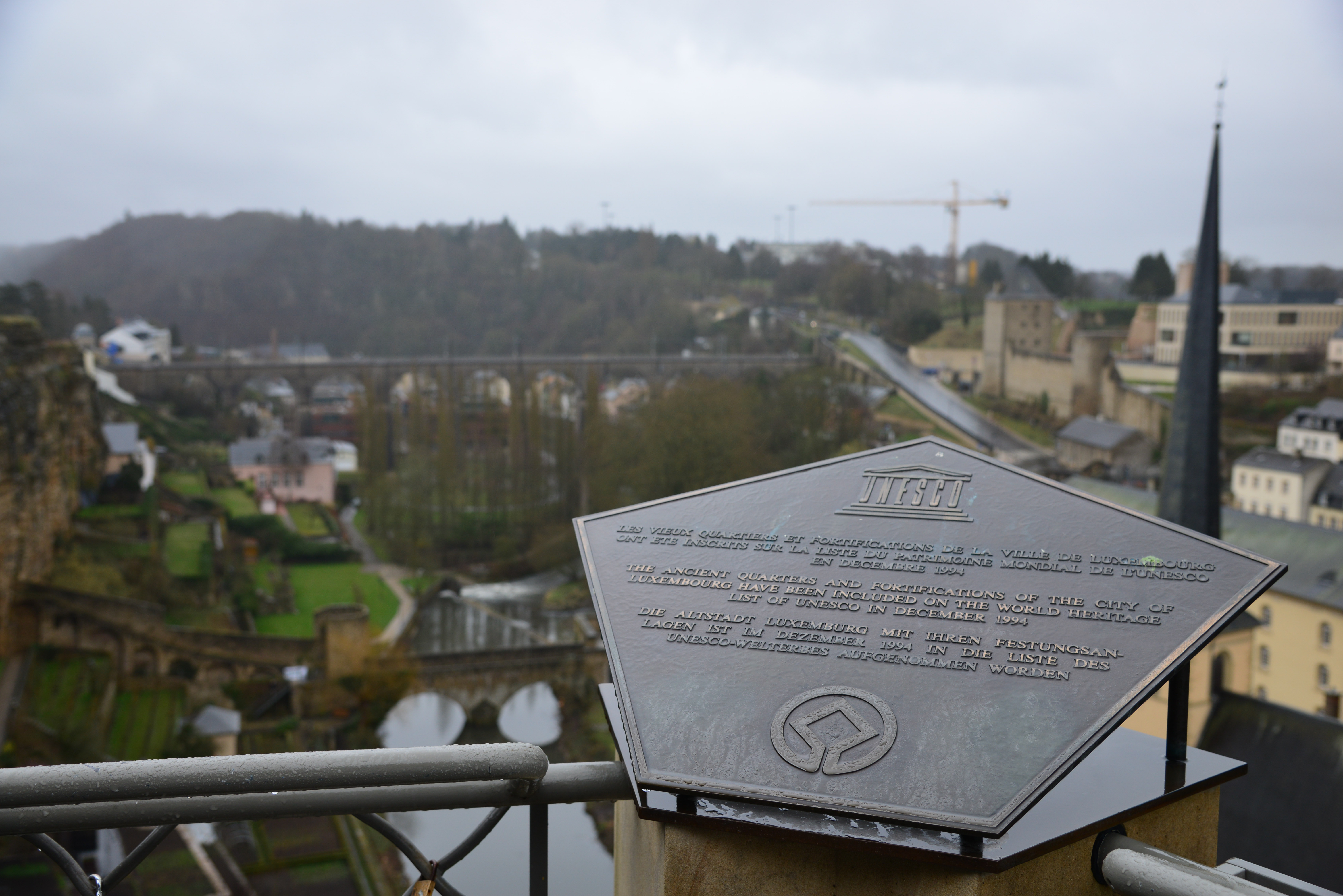 UNESCO Sign in Luxembourg